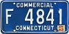 1963 CONNECTICUT Commercial license plate # F 4841