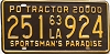 1963 Louisiana Private Owned Tractor # 251-924