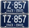 1963 Ohio pair # TZ-857