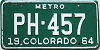 1964 Colorado Metro #PH-457, Arapahoe County
