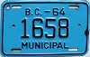 1964 British Columbia Municipal # 1658