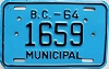 1964 British Columbia Municipal # 1659