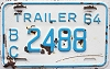 1964 British Columbia Trailer # 2488