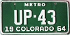 1964 Colorado Metro # UP-43, Fremont County