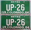 1964 Colorado Metro pair low # UP-26, Fremont County