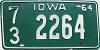 1964 IOWA license plate # 2264, Page County