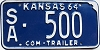 1964 Kansas Commercial Trailer # 500, Saline County