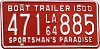 1964 Louisiana Boat Trailer # 471-885