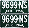 1964 Ohio pair # 9699-NS