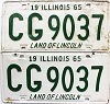 1965 Illinois pair #CG 9037