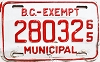 1965 British Columbia Municipal Exempt # 28032