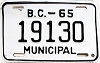 1965 British Columbia Municipal # 19130