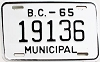 1965 British Columbia Municipal # 19136