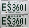 1965 Illinois pair # ES3601