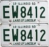 1965 Illinois pair # EW 8412