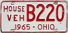 1965 Ohio House Vehicle # B220