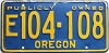 1965 Oregon Publicly Owned # 104-108