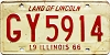 1966 Illinois #GY 5914