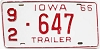 1966 Iowa Trailer # 647, Washington County