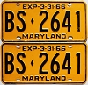 1966 Maryland pair # BS-2641