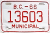 1966 British Columbia Municipal # 13603