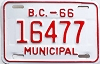 1966 British Columbia Municipal # 16477