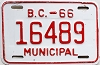 1966 British Columbia Municipal # 16489