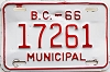 1966 British Columbia Municipal # 17261