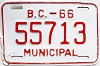 1966 British Columbia Municipal # 55713