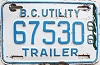 1966 British Columbia Utility Trailer # 67530