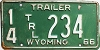 1966 Wyoming Trailer # 234, Niobrara County