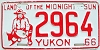 1966 YUKON Gold Miner license plate # 2964
