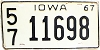 1967 Iowa # 11698, Linn County