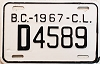 1967 British Columbia Carrier # D4589