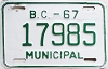 1967 British Columbia Municipal # 17985