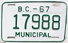 1967 British Columbia Municipal # 17998