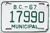 1967 British Columbia Municipal # 17990