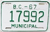 1967 British Columbia Municipal # 17992
