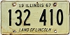 1967 ILLINOIS old license plate # 132 410