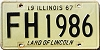 1967 Illinois # FH 1986