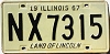 1967 Illinois # NX 7315