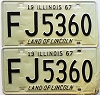 1967 Illinois pair # FJ 5360