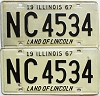 1967 Illinois pair # NC 4534
