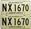 1967 Illinois pair # NX 1670