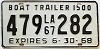 1967 Louisiana Boat Trailer # 479-282