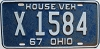 1967 Ohio House Vehicle # X-1584
