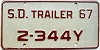 1967 South Dakota Trailer # 2-344Y, Pennington County