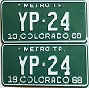 1968 Colorado Metro Tractor pair low # YP-24, Kiowa County