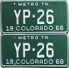 1968 Colorado Metro Tractor pair low # YP-26, Kiowa County