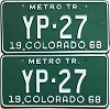 1968 Colorado Metro Tractor pair low # YP-27, Kiowa County
